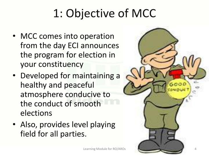 1: Objective of MCC