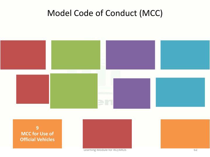 Model Code of Conduct (MCC)