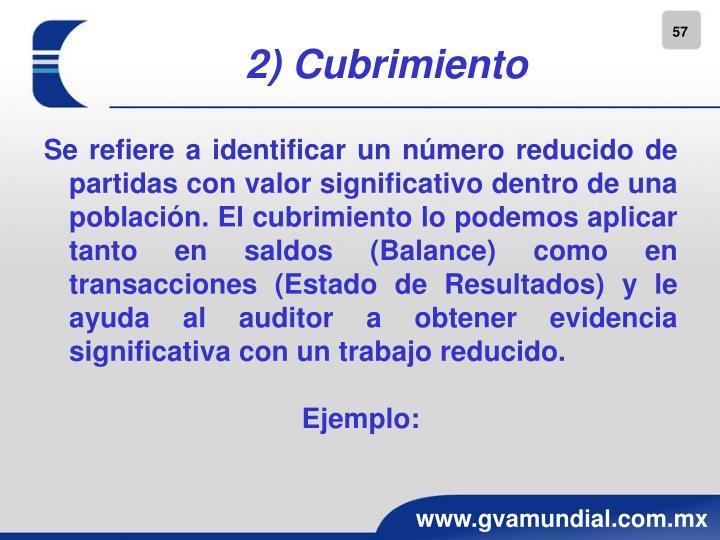2) Cubrimiento
