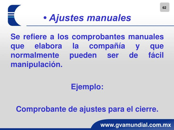 • Ajustes manuales