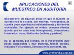 aplicaciones del muestreo en auditor a