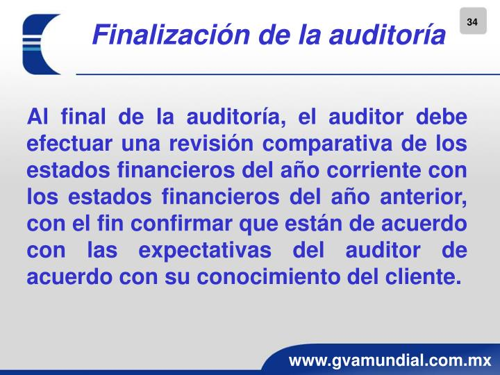 Finalización de la auditoría