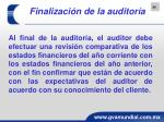 finalizaci n de la auditor a