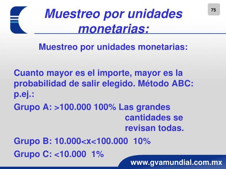 Muestreo por unidades monetarias:
