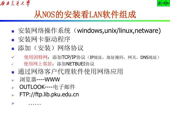 安装网络操作系统(