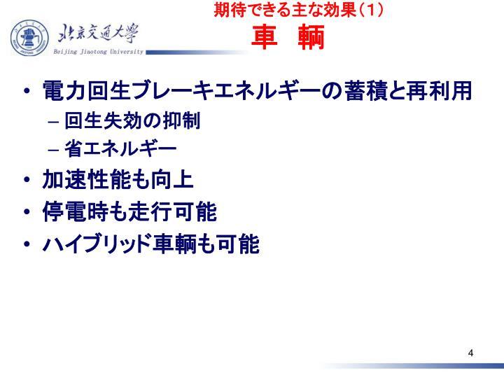 期待できる主な効果(1)