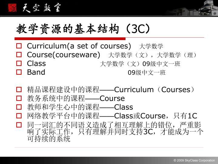 教学资源的基本结构(