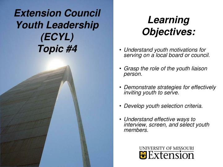 Extension council youth leadership ecyl topic 41