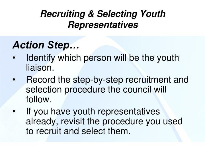 Recruiting & Selecting Youth Representatives