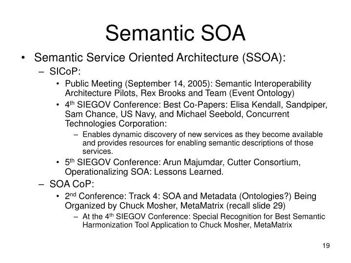 Semantic SOA