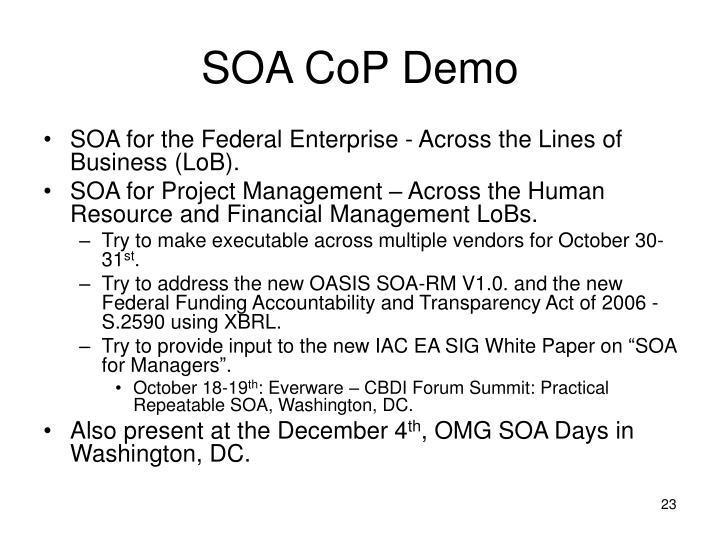 SOA CoP Demo