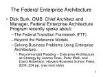 the federal enterprise architecture1