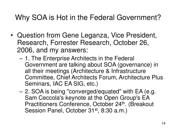 Why SOA is Hot in the Federal Government?