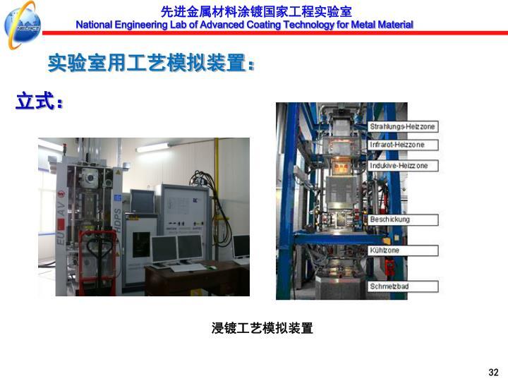 实验室用工艺模拟装置: