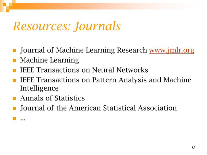 Resources: Journals