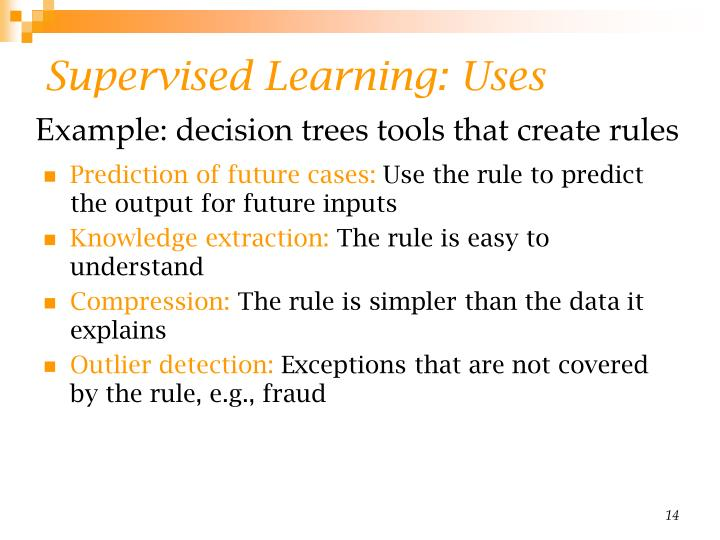 Supervised Learning: Uses