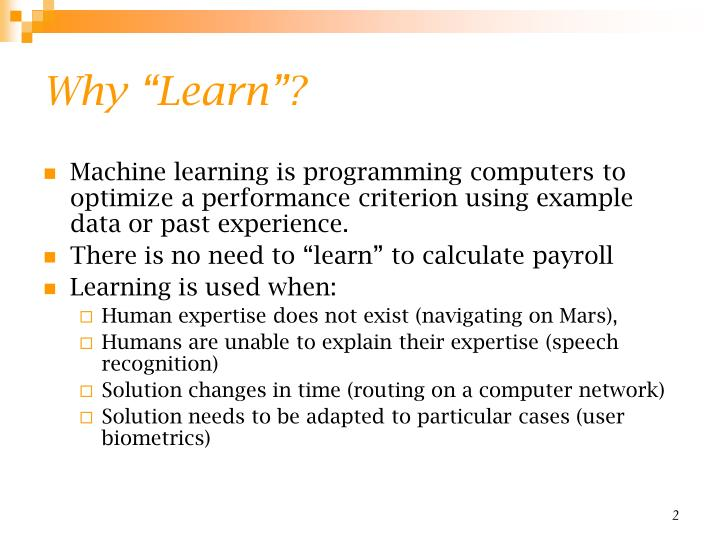 """Why """"Learn""""?"""