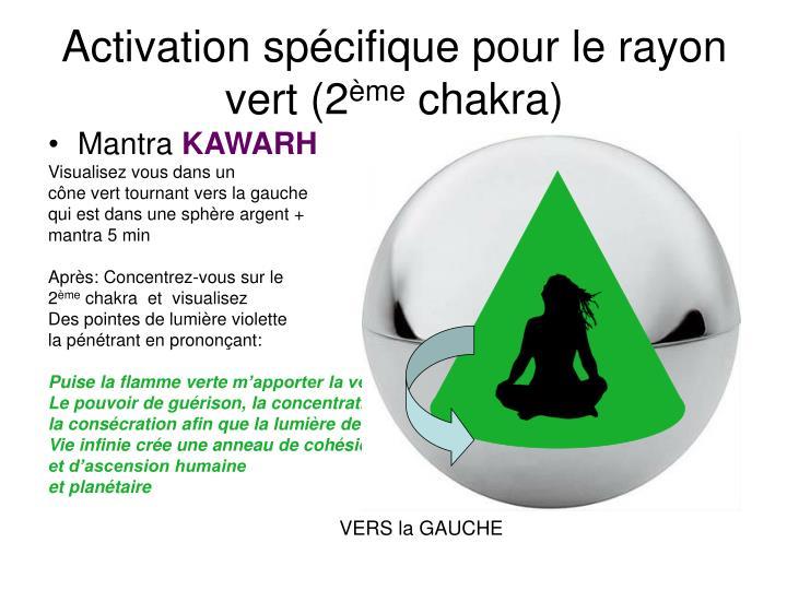 Activation spécifique pour le rayon vert (2