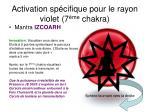 activation sp cifique pour le rayon violet 7 me chakra