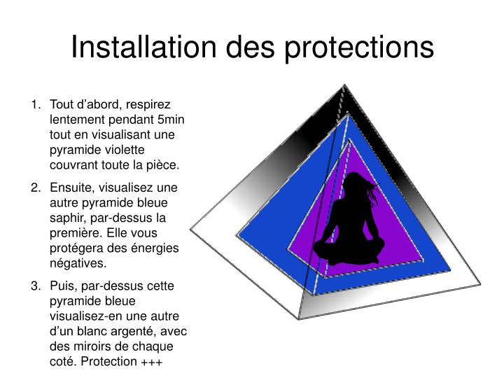 Installation des protections