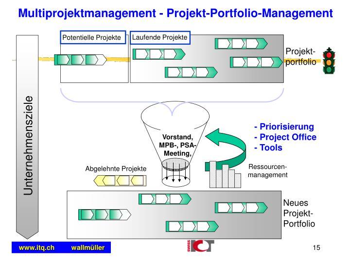 Multiprojektmanagement - Projekt-Portfolio-Management