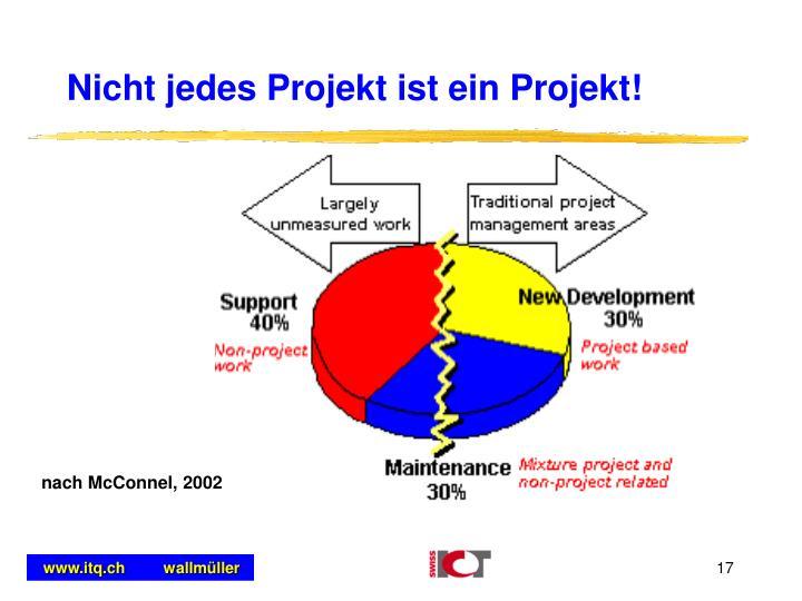 Nicht jedes Projekt ist ein Projekt!