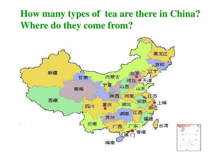 How many types of  tea are there in China?
