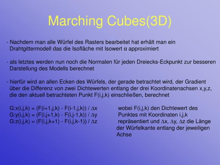 Marching Cubes(3D)