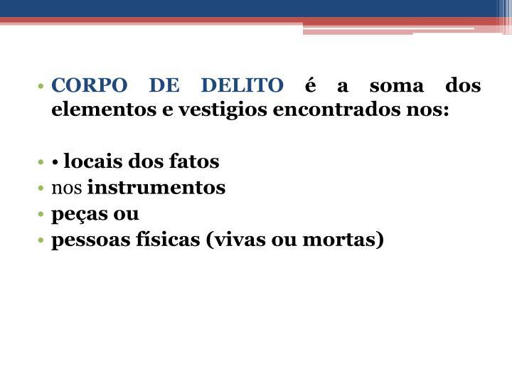 CORPO DE DELITO