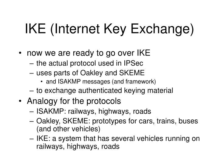 IKE (Internet Key Exchange)