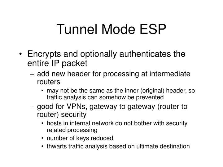 Tunnel Mode ESP