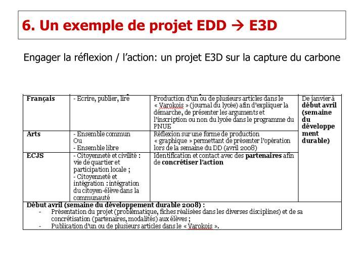 6. Un exemple de projet EDD