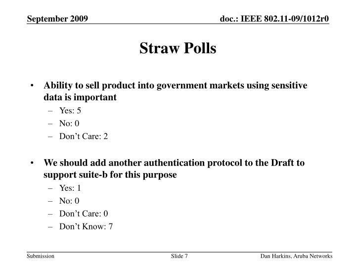 Straw Polls
