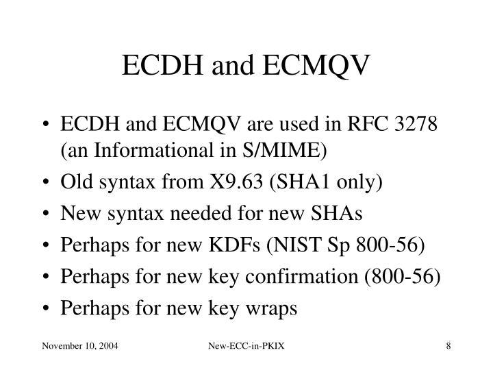 ECDH and ECMQV