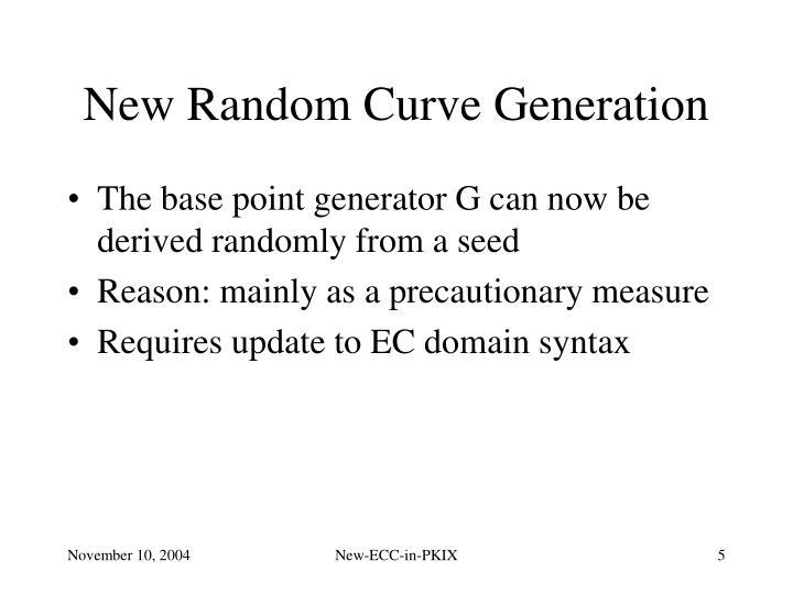 New Random Curve Generation