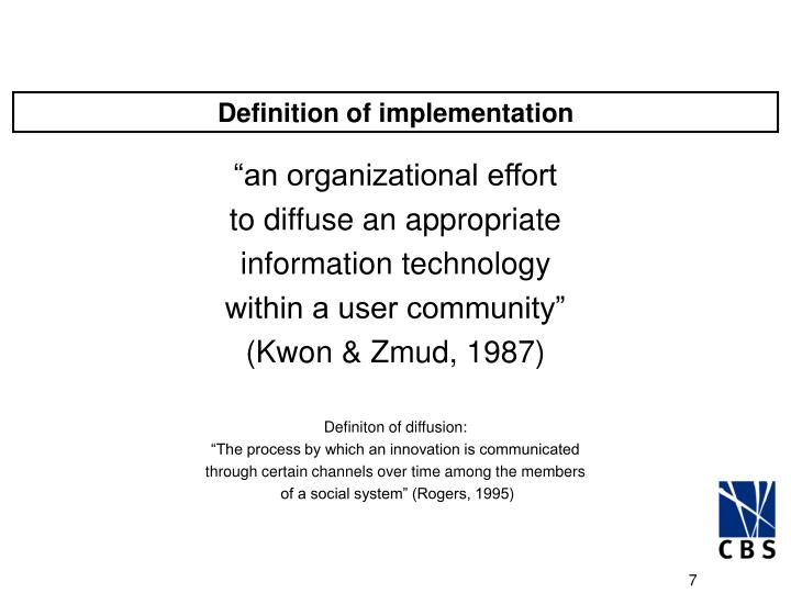 Definition of implementation