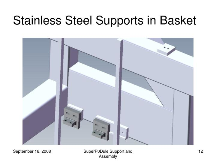Stainless Steel Supports in Basket