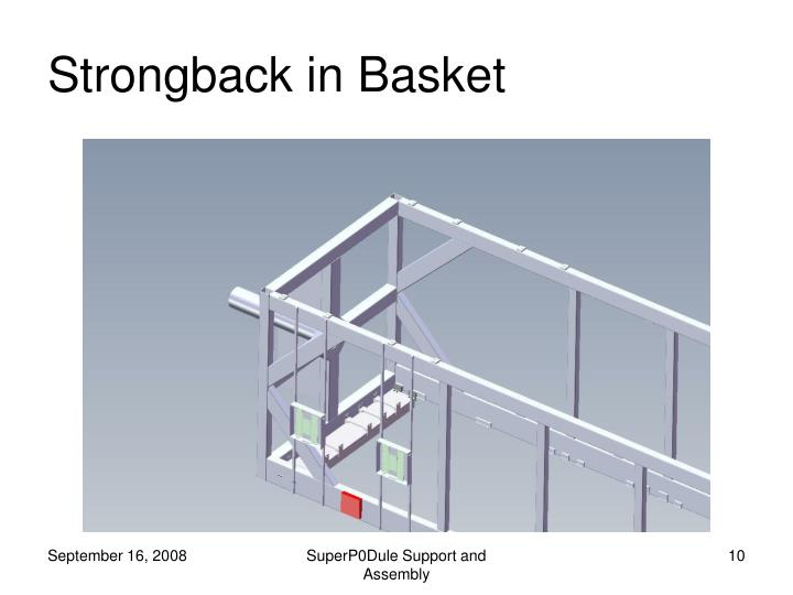 Strongback in Basket