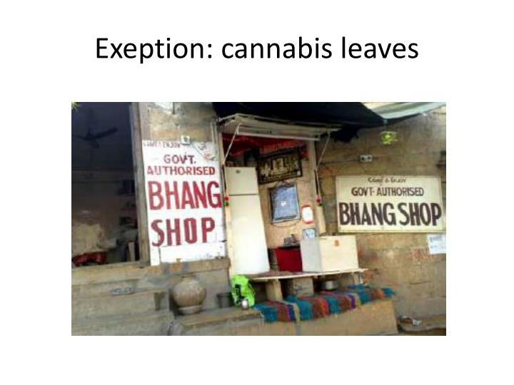 Exeption: cannabis leaves