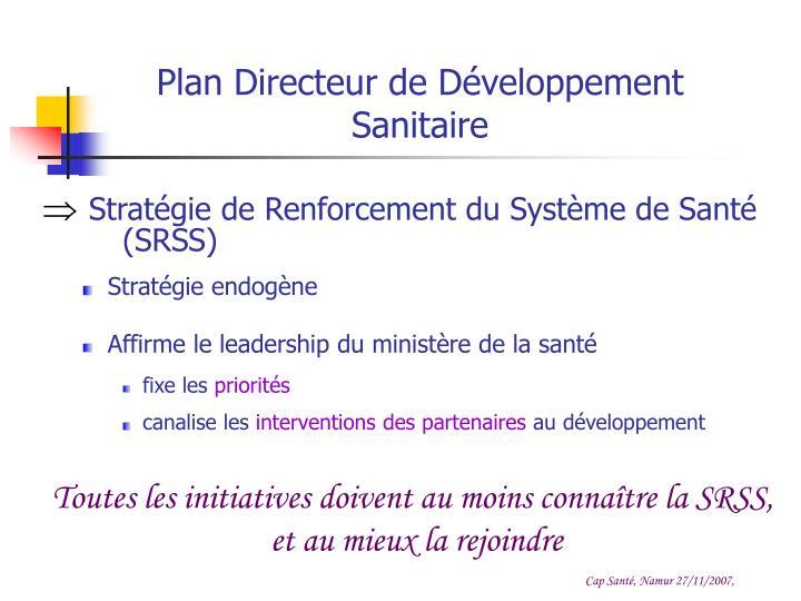 Plan Directeur de Développement Sanitaire