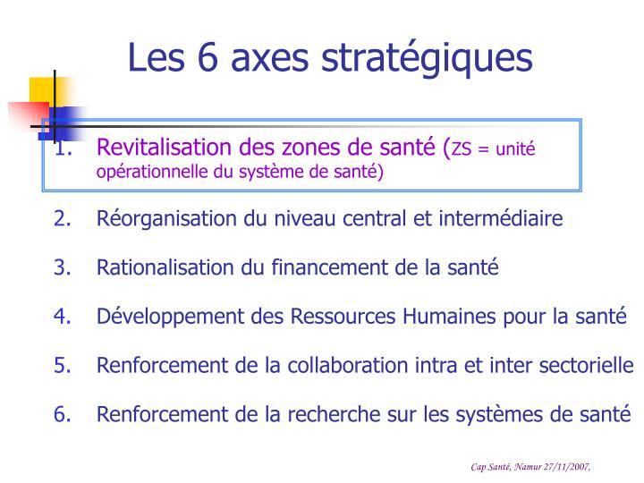Les 6 axes stratégiques