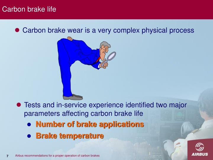 Carbon brake life