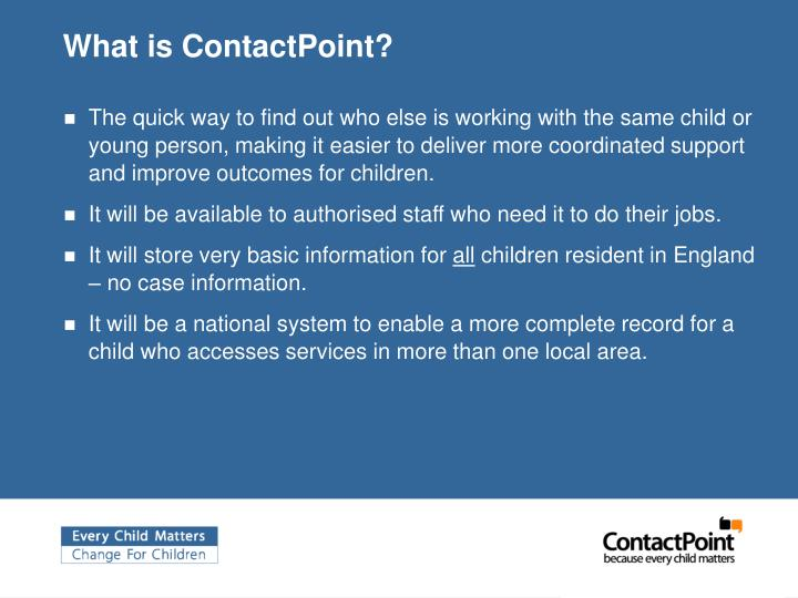 What is contactpoint