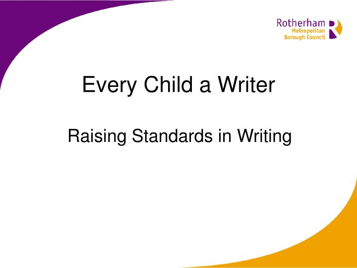 Every child a writer