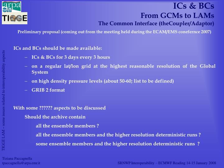 ICs & BCs