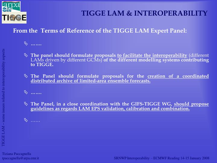 Tigge lam interoperability