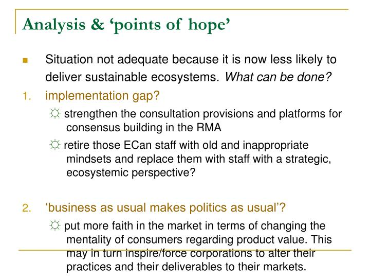Analysis & 'points of hope'