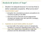 analysis points of hope