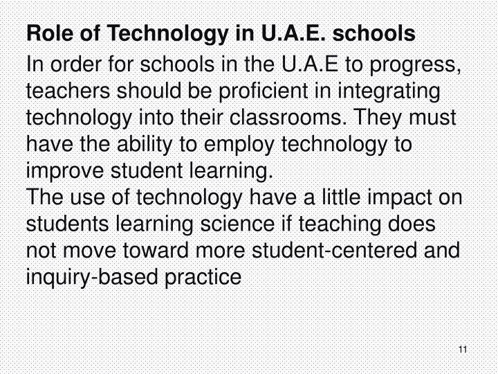 Role of Technology in U.A.E. schools