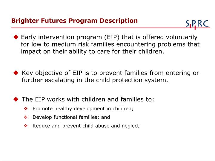 Brighter Futures Program Description